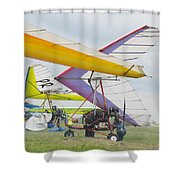 Hang Gliding Shower Curtain