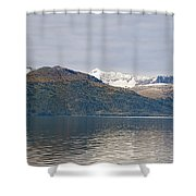 Hanging Glaciers And Chugach Mountiains Shower Curtain