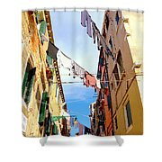 Hanging In Venice Shower Curtain