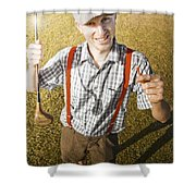 Happy The Golf Man Shower Curtain