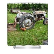 Hard Days Work Farm Tractor Shower Curtain
