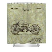 Harley Davidson Patent Shower Curtain