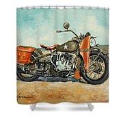 Harley Davidson Wla 1942 Shower Curtain