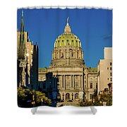 Harrisburg, Pennsylvania, City Skyline Shower Curtain
