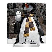 Harry Christmas Shower Curtain