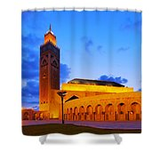 Hassan II Mosque In Casablanca Shower Curtain