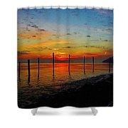 Haverstraw Bay Sunrise Shower Curtain