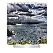 Hawaii Big Island Coastline V2 Shower Curtain