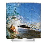 Makena Boogie Boarder Shower Curtain