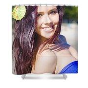 Hawaiian Girl In Hawaii Shower Curtain