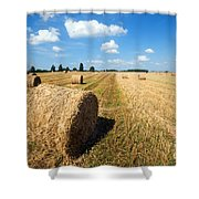 Haystacks In The Field Shower Curtain