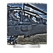 Hdr Image Of Pilots Equipped Shower Curtain