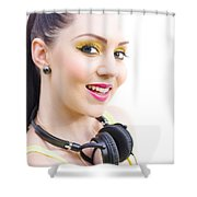 Headphones Shower Curtain