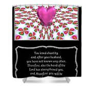 Heart And Love Design 16 With Bible Quote Shower Curtain
