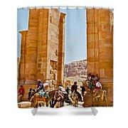 Hellenistic Gateway In Petra-jordan  Shower Curtain