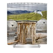 Hellisheidi Power Station Well Shower Curtain