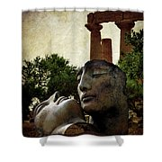 'hermanos' In The Valley Of The Temples Shower Curtain