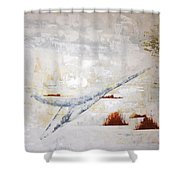Heron Flight Shower Curtain