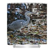 Heron On The River Shower Curtain