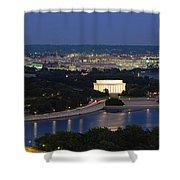 High Angle View Of A City, Washington Shower Curtain