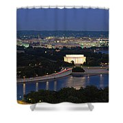 High Angle View Of A City, Washington Shower Curtain