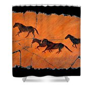 High Desert Horses Shower Curtain