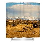 High Desert Plains Landscape Shower Curtain