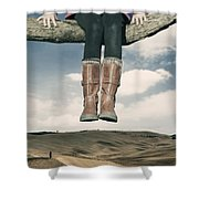 High Over The World Shower Curtain