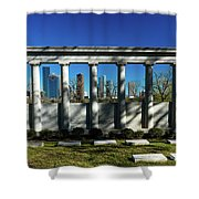 High Rise Buildings In Houston Shower Curtain