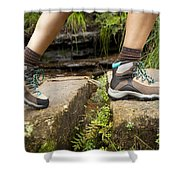 Hiking Boots Shower Curtain