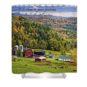 Hillside Acres Farm Shower Curtain