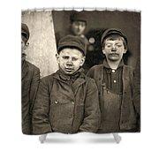 Hine Breaker Boys, 1911 Shower Curtain