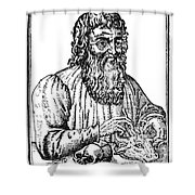 Hippocrates (c460-c377 B.c.) Shower Curtain