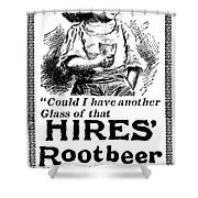 Hires' Root Beer Ad, 1895 Shower Curtain