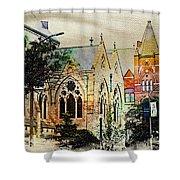 Historic Churches St Louis Mo - Digital Effect 7 Shower Curtain
