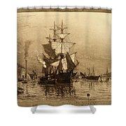 Historic Seaport Schooner Shower Curtain