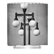 Historic Ybor Lamp Posts Shower Curtain