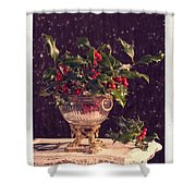 Holly And Berries Shower Curtain