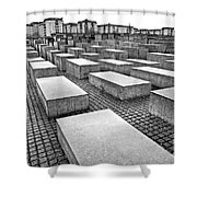 Holocaust Memorial - Berlin Shower Curtain