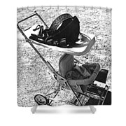Holster  Brief Case  Baby Carriage Tombstone Arizona 1970 Shower Curtain