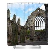 Holyrood Abbey Ruins Shower Curtain