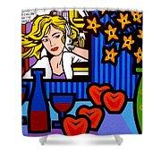 Homage To Lichtenstein Shower Curtain