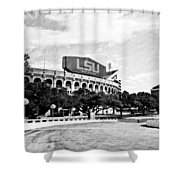 Home Field Advantage - Bw Texture Shower Curtain