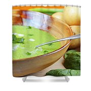 Homemade Potato And Spinach Soup Shower Curtain