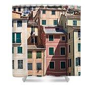 homes in Camogli Shower Curtain