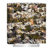 Homes Of San Francisco Shower Curtain