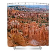 Hoodoo Rock Formations In A Canyon Shower Curtain