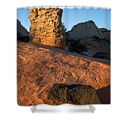 Hoodoos At Sunset Shower Curtain