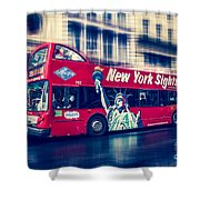hop on hop off  through NYC Shower Curtain