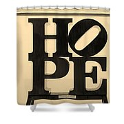 Hope In Sepia Shower Curtain